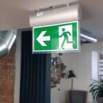 Установка аварийного освещения Exit