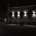 Установка светильников на фасаде памятника архитектуры